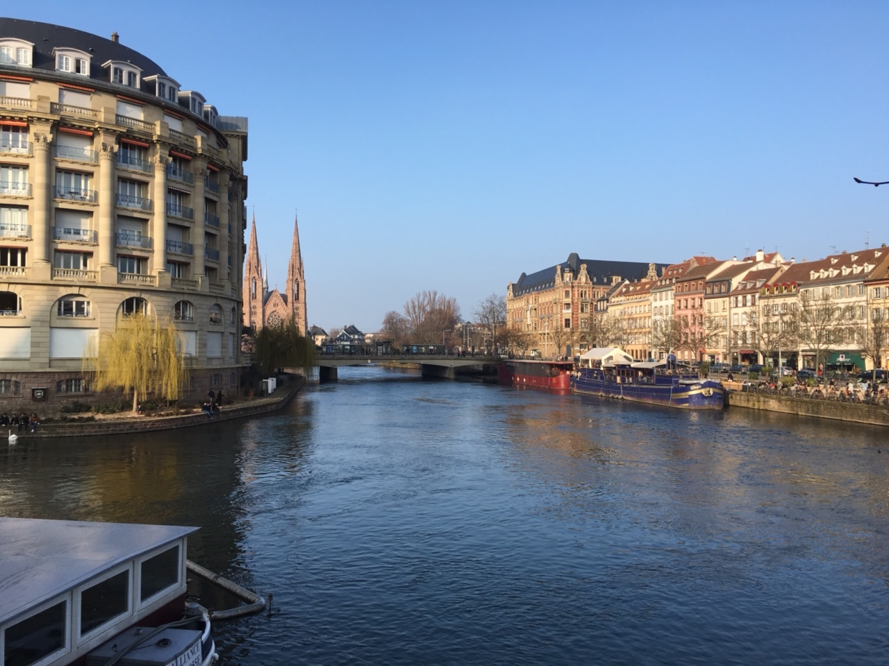 French daily life activity in Strasbourg, France